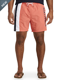 Nautica® Spiced Coral Stripe Swim Trunks