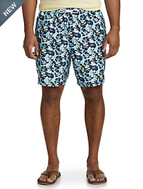 Nautica® Abstract Poppy Print Swim Trunks