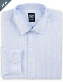 Brooks Brothers® Non-Iron Double Mini Windowpane Broadcloth Dress Shirt