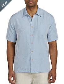 Cubavera® Tonal Jacquard Sport Shirt