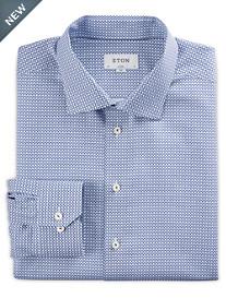 Eton® Mini Geo Print Dress Shirt