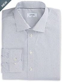 Eton® Grounded Mini Dot Dress Shirt