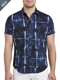 Calvin Klein Jeans® Abstract Grid Print Sport Shirt