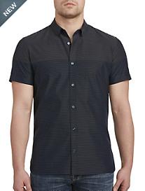 Calvin Klein® Sport Horizontal Dobby Stripe Sport Shirt