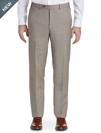 Jack Victor® Check Wool Flat-Front Dress Pants