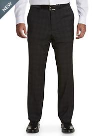 Jack Victor® Reflex Tonal Plaid Flat-Front Suit Pants