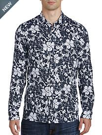 Michael Kors® Abstract Floral Print Linen Sport Shirt