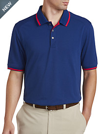 Cutter & Buck® CB DryTec™ Cotton+ Advantage Stretch Tipped Polo