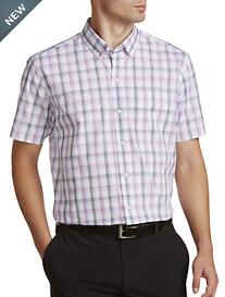 Cutter & Buck® Non-Iron Griffen Plaid Poplin Sport Shirt
