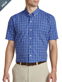 Cutter & Buck® Easy-Care Leo Plaid Poplin Sport Shirt