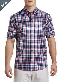 Cutter & Buck® Non-Iron Sebastian Plaid Poplin Sport Shirt