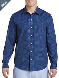 Cutter & Buck® Rowan Print Poplin Sport Shirt