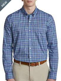 Cutter & Buck® Easy-Care Charlie Plaid Poplin Sport Shirt