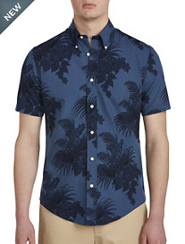 Brooks Brothers® Tropical Floral Print Broadcloth Sport Shirt