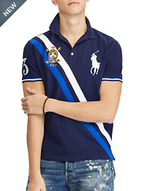 Polo Ralph Lauren® Classic Fit Colorblock Big Pony Mesh Polo