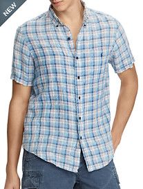 Polo Ralph Lauren® Classic Fit Plaid Linen Sport Shirt