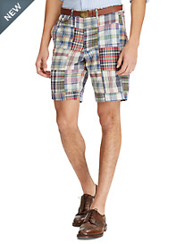 Polo Ralph Lauren® Stretch Classic Fit Patchwork Madras Plaid Shorts