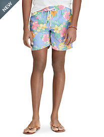 Polo Ralph Lauren® Hibiscus Print Traveler Swim Trunks