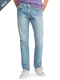 Polo Ralph Lauren® Hampton Relaxed Straight Fit Stretch Andrews Wash Jeans