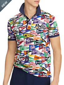 Polo Ralph Lauren® Classic Fit Baseball Banner Graphic Polo