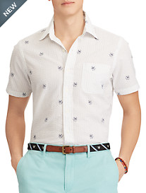 Polo Ralph Lauren® Classic Fit Dog & Anchor Print Seersucker Sport Shirt