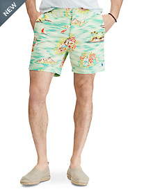 Polo Ralph Lauren® Classic Fit Hawaiian Print Prepster Shorts