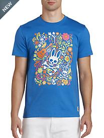 Psycho Bunny® Festival Bunny Graphic Tee