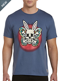 Psycho Bunny® Tattoo Butterfly Bunny Graphic Tee