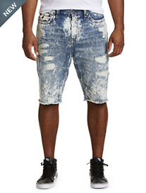 True Religion® Ricky Acid Wash Denim Shorts
