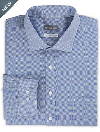 Michael Kors® Non-Iron Mini Geo Print Stretch Dress Shirt
