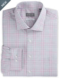Michael Kors® Non-Iron Large Plaid Stretch Dress Shirt