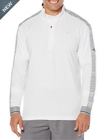 Callaway® Textured Print Quarter-Zip Pullover