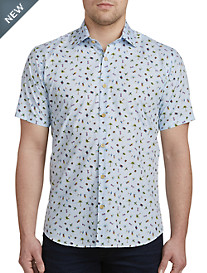 Jared Lang Beach Print Sport Shirt