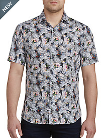 Jared Lang Fern Tropical Print Sport Shirt