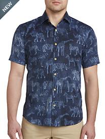 Jared Lang Animal Print Sport Shirt
