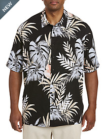 Cubavera® Tropical Pattern Sport Shirt