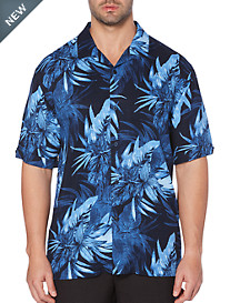 Cubavera® Tropical Print Camp Shirt