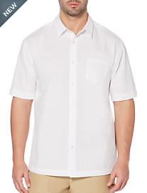 Cubavera® Pickstitched Solid Sport Shirt
