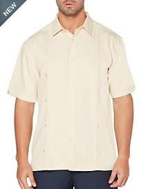 Cubavera® Crepe Panel Sport Shirt
