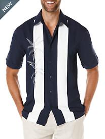 Cubavera® Bamboo Embroidered Sport Shirt