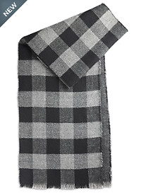 New York Glove Company Buffalo Check/Herringbone Reversible Woven Scarf