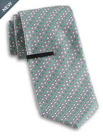 Gold Series® Dual Dot Silk Tie with Tie Bar