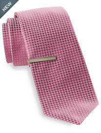 Gold Series® Diamond Solid Silk Tie with Tie Bar