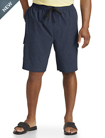 Harbor Bay® 4-Way Stretch Solid Swim Trunks