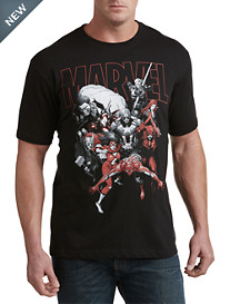 Red/Black Marvel Comics Pack Graphic Tee