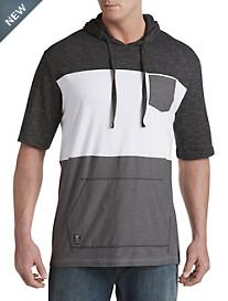 PX Clothing Short-Sleeve Colorblock Hoodie