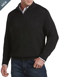 Oak Hill® 1/4-Zip Textured Sweater