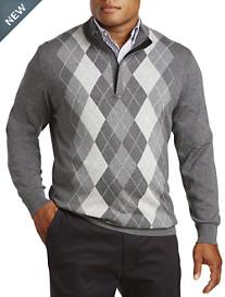 Oak Hill® 1/4-Zip Argyle Sweater