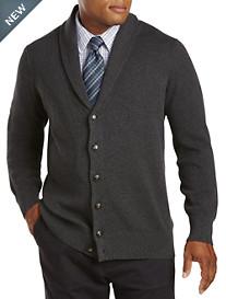 Oak Hill® Button-Front Shawl-Collar Cardigan