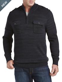 True Nation® Space-Dyed 1/4-Zip Mockneck Sweater